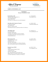 Reference List Format Resume Personal Page Template Sample 40a For