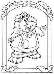 Belle En Het Beest Kleurplaten Disneykleurplatencom