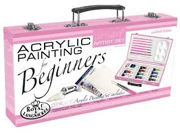 com royal brush pa acr3000 royal and langnickel pink art acrylic painting artist set for beginners pink