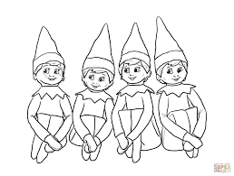 Small Picture Coloring Pages Elf On The Shelf Coloring Pages For Kids Few