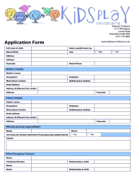 printable registration form template daycare registration form template fill online printable