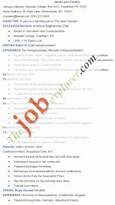 Resume For Software Engineer Templates Journalism Template