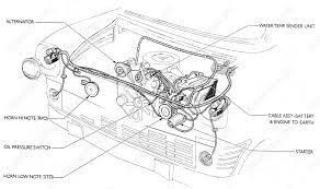 fordopedia org wiring diagrams ford transit mki f o b 09 1970 onwards engine compartment