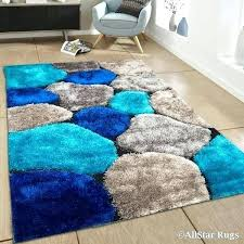 aqua blue bath rugs high density 3 d stoned pile rug 7 x 5