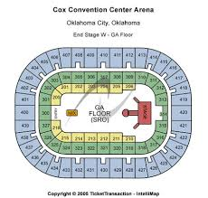 Cox Convention Center Seating Chart Cox Convention Center Tickets Cox Convention Center In