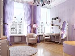 Purple Bedroom Wallpaper Large Space Bedroom Interior Purple Color With Floral Wallpaper