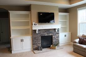 Wall Units, Diy Built In Entertainment Center With Fireplace: amazing  entertainment center with built