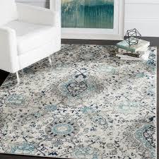 blue and grey area rug splendid matelles cream light gray reviews birch lane