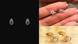 Small Diamond Tops Designs Latest Gold And Diamond Stud Earrings Designs For Kids Baby Tops Teenage Girls Stud Earrings Designs