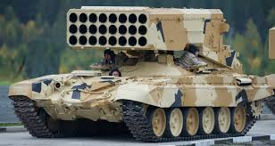 Image result for TOS-1 220mm multiple rocket launcher,