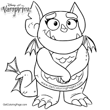 Gargoyle From Vampirina Coloring Pages Get Coloring Page
