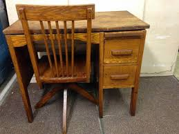 image of student wood desk chair ideas