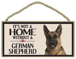 dels about wood sign it s not a home without a german shepherd dogs gifts decorations