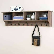 Coat Rack Systems Mesmerizing Wall Mounted Furniture Drifted Gray Wall Mounted Coat Rack Wall
