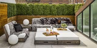 Narrow balcony furniture Apartment Elle Decor 40 Best Small Patio Ideas Small Patio Furniture Design