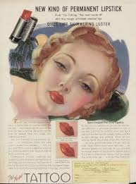 1930s bee stung lips 1930s makeup ad for tattoo
