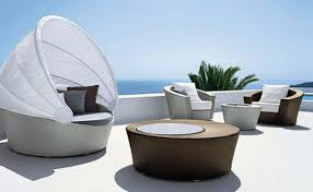 luxurypatio modern rattan tommy bahama outdoor furniture. This Outdoor Space Is Complete With A Fireplace, Sitting Area, Dining Room, And An Kitchen To Make It Feel Just Like Home. Weatherproof Furniture Luxurypatio Modern Rattan Tommy Bahama