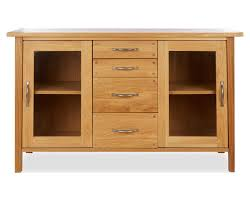 cool sideboard with glass doors in made to order furniture milton oak sliding door