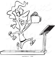 Cartoon Running On Treadmill Clipart Free