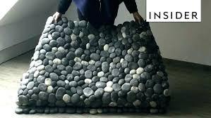 felt stone rug felt stone rugs how to make rug felted wool beads flat stones olive