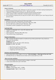 Professional Resume Paper New Resume For Msc Students
