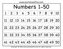 1 50 Number Chart Download Printable Pdf Templateroller