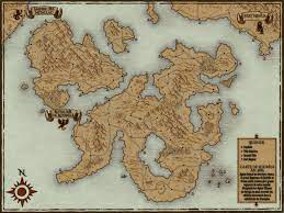 create a world or town fantasy map for
