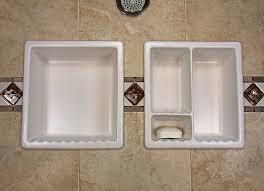 Porcelain shower shelf Bathroom Shower Niche One Piece Shampoo Soap Bathroom Bathroom Tile Bathroom Shampoo Soap Shelf Dish Shower Niche Recessed Tile Ceramic