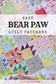 Bear Paw Quilt Pattern Enchanting 48 Easy Bear Paw Quilt Patterns FaveQuilts