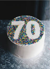 70th Birthday Cake Crumbs And Tea