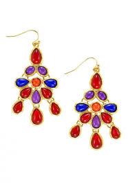 bohemian boho teardrop chandelier earrings