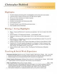 Template Teaching Resume Templates Wordpress Resumes Montessori