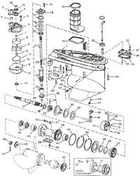 need help evinrude johnson outboard parts drawing lower unit