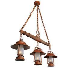 rustic island lighting made to order in america 49er series yoke mount chandelier