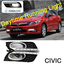 2008 Honda Civic Daytime Running Lights Us 58 26 25 Off Ecahayaku Drl Led Daytime Running Light For Honda Civic 2011 2013 With Yellow Color Turning Signal Lamp 12v Day Light Headlight In