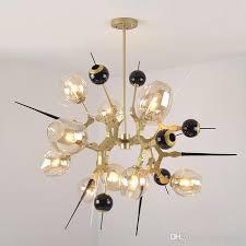personality dining room living room gold chandelier special shaped black chandelier lighting modern bedroom creative glass pendant lights modern pendants