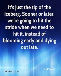 ernest hemingway iceberg retirees on the go hotel nyware iceberg  iceberg quotes page quotehd fred smoot it s just the tip of the iceberg sooner or