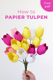 Make Easy Paper Flower How To Make A Paper Tulip Free Template Papershape