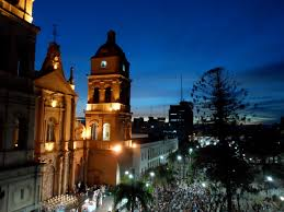 Christmas Lights Santa Cruz Hot And Humid Evening In Santa Cruz Bolivia Blue Moment