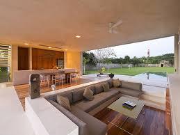 neutral furniture. Sunken Living Room With Neutral Furniture