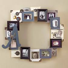 modern interior design with diy family photo collage frame on wall ideas for picture frames