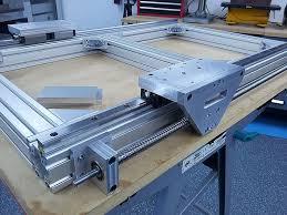 diy cnc router. build thread cnc router , aluminum frame pics only . diy n