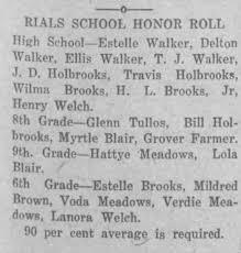 Estelle Walker Honor Roll. Also Ellis, T.J., and Delton Walker -  Newspapers.com