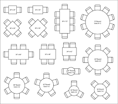 60 in round table seats how many designs