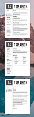 800 Best Modern Resume Templates Images On Pinterest Charts