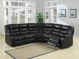 Black Leather Sectional Sofa With Recliner Leather Sectional Sofa Recliner