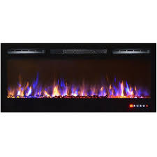 ay crystal wall mount electric fireplace