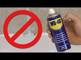 warning wd 40 silicone remover fail