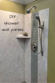 diy shower wall panels can have a dramatic look this project uses a pvc backed composite wall system with a digital image of a calabria stone pattern