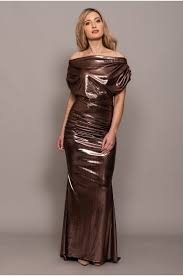 platinum gown off shoulder fishtail gown rose gold 006 na